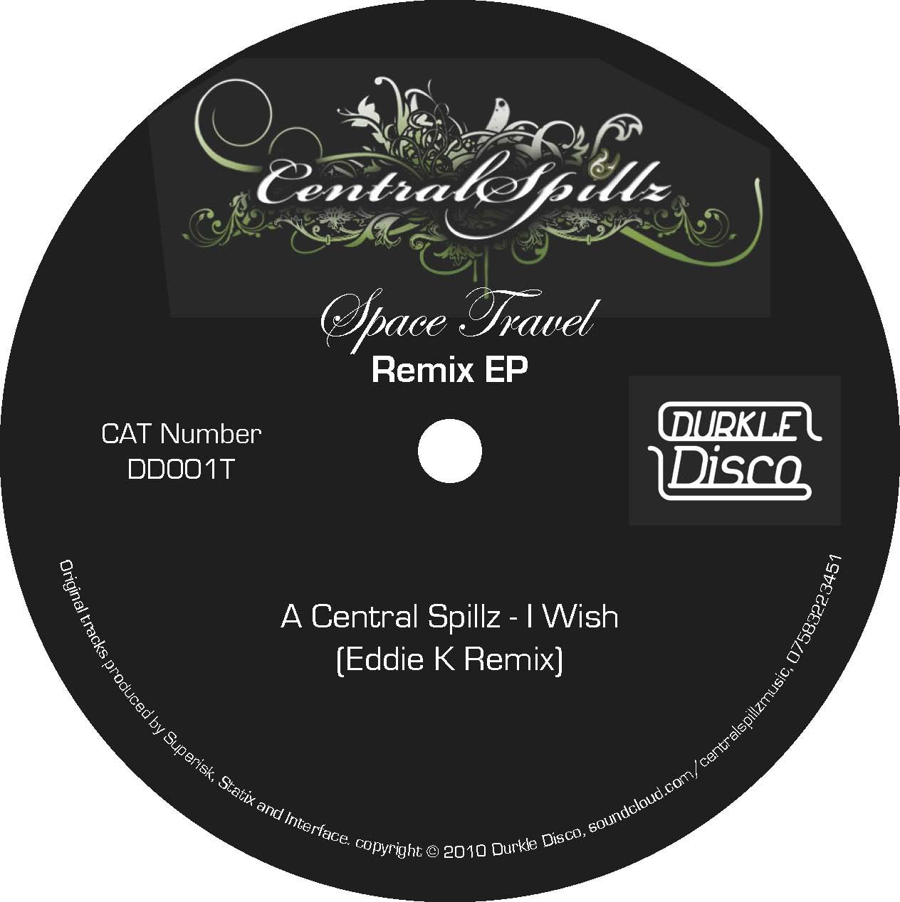 Central Spillz / Eddie K / Mensah – Space Travel Remixes – DD001